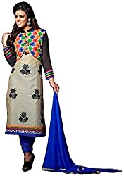 Siya Fashion women's Chanderi Party Wear Unstitched Dress Material(si1502_ Multi color)