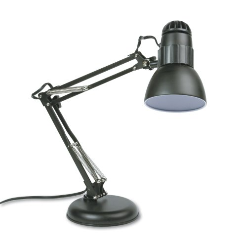 Ledu L423MB Knight Incandescent Swing Arm Desk Lamp, 22 Reach, Matte Black