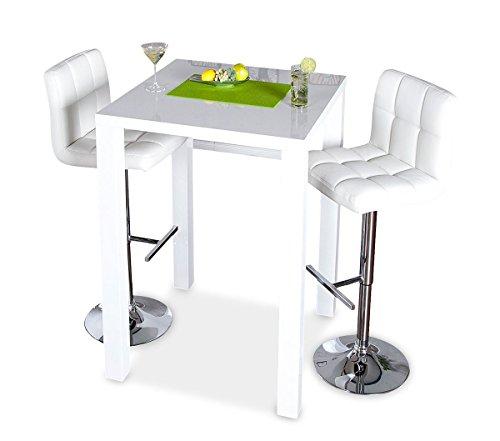 bar tisch tresen k chentisch wei hochglanz stehtisch bartresen esstisch ablage k che. Black Bedroom Furniture Sets. Home Design Ideas