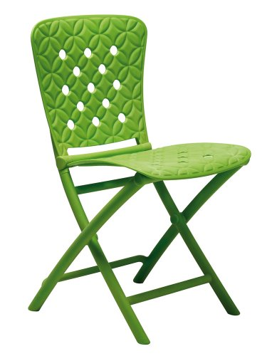 camping roulotte fiore verde Sgabello pieghevole con seduta soffice in similpelle; ideale per casa giardino