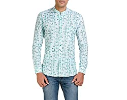 Color-Buckket Men's Casual Shirt_CB509_White_XXL
