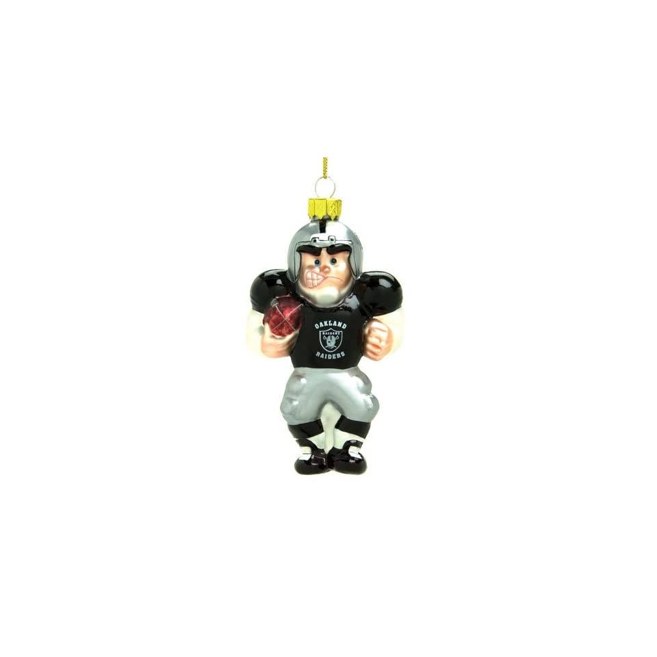 Oakland Raiders NFL Glass Player Ornament (4 Caucasian inch)