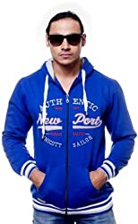 Unicott Full sleeves Blue printed Men's Sweatshirt (M) (Medium)