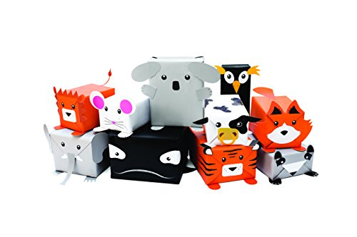 Luckies of London lukrgw Robot carta da regalo, dolcissimo carta regalo set, Multi coloured, 5.3x8.2x0.6 cm