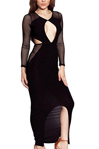 peep-hole-busto-mest-raja-maxi-vestido-de-fiesta-de-las-mujeres-black-one-size