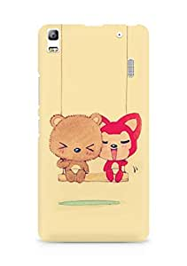 Amez designer printed 3d premium high quality back case cover for Lenovo A7000 (Cute Dolls)