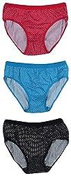 ALOFT Women's Panties - Combo of 3 (ALOFTMISTY, Pink, Blue and Black, L)
