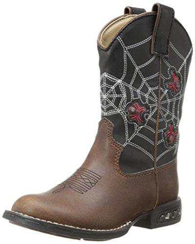 Roper Light Up Spiders Western Boot (Toddler/Little Kid),Brown/Black,11 M Us Little Kid front-771522