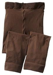 Jefferies Socks Baby Girls\' Footless Tight, Chocolate, 18 24 Months