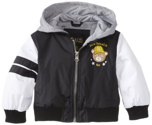 Ixtreme Baby-Boys Infant Varsity Bear Outerwear Jacket, Black, 18 Months front-1006368