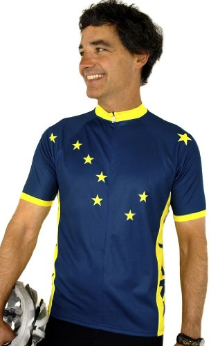 Buy Low Price Alaska Flag Short Sleeve Cycling Jersey (B008VMVHP6)