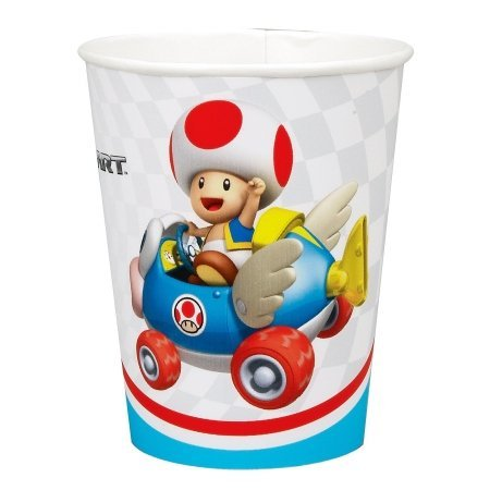 Party Destination 235049 Mario Kart Wii 9 oz. Cups
