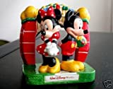 Disney Parks Exclusive Mickey and Minnie At The Gate 3 Piece Ceramic Salt and Pepper Shakers Set