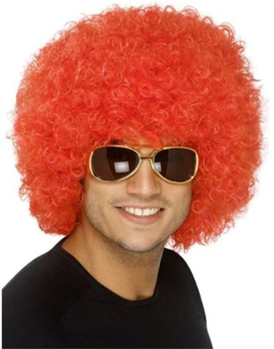 New Mens Womens Child Costume Red Afro Disco Clown Wig