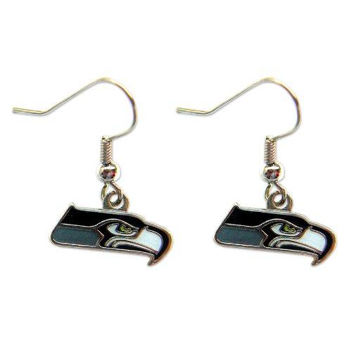 Nfl Seattle Seahawks Sports Team Logo Women Girls Fashion Wear Dangle Charm Gift Earring Set