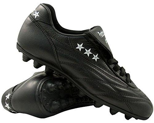 Pantofola D'oro Scarpa da Calcio New Star, Pelle di Vitello, Linguetta Lunga PC2336 (45, Nero)