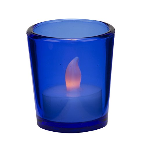 Biedermann & Sons 12 Glass Votive Candle Holders In Cobalt Blue (Cobalt Blue Tea Light Holders compare prices)