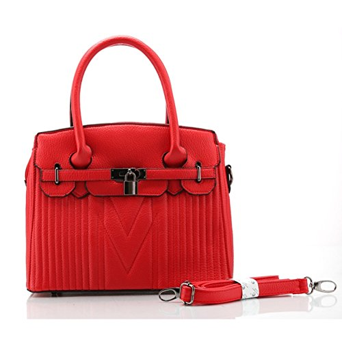 Walcy HB900345C5 PU Leather European And American Style Women's Handbag,Box Motorcycle Bag (Tassimo Watch compare prices)
