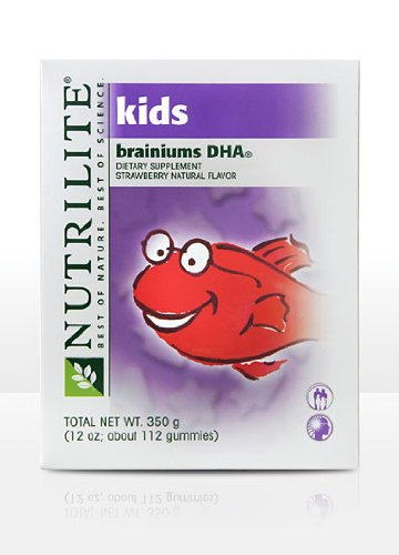 Nutrilite Kids Brainiums Dha Gummy Supplement - Strawberry Flavor About 112 Gummies