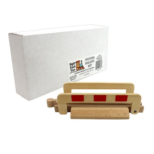 Train Track Piece - Railroad Crossing Piece - 100% Compatible with All Major Brands including Thomas Wooden Railway System - By Right Track Toys