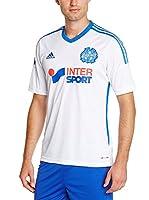 adidas Camiseta de Fútbol Olympique Marseille Home 2014/2015 (Blanco)