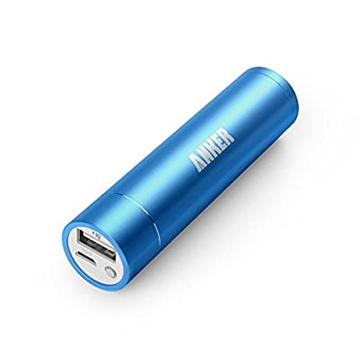 [Upgraded Capacity] Anker 2nd Generation Astro mini 3350mAh Lipstick-Sized Portable Charger External Battery Power Bank with PowerIQ Technology for iPhone, Samsung, GoPro and More (Blue)