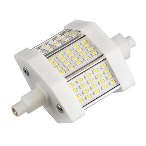 lampada r7s 78mm 60 led smd bianco caldo 3000k 100 240v. Black Bedroom Furniture Sets. Home Design Ideas