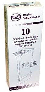 SEBO 5093AM Vacuum Filter Bag Box for X Series, 10-Pack