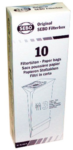 SEBO 5093AM Vacuum Filter Bag Box for X Series, 10-Pack (Sebo Commercial Vacuum compare prices)