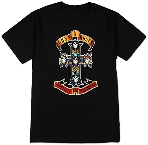 Officially Licensed Guns N Roses Cross T-Shirt - Sizes S to XXXL