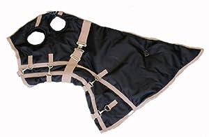 Winter Horse Blanket Hood 1200D Black, Medium