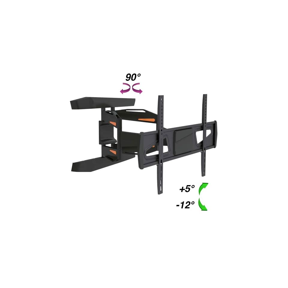 InstallerParts Flat TV Mount 37~70 Tilt/Swivel, LPA30 466A Black    For LCD LED Plasma TV Flat Panel Displays    Articulating Dual Arm Ultra Modern Designer Mount Wall Bracket