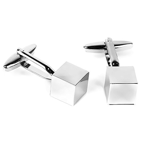 stainless-steel-men-cuff-link-cufflinks-mirror-cube-accesorio-de-disfraz