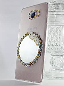 Kiintymys Handcrafted Designer Bling 3D Golden Glass Mirror Acrylic Case For Samsung Galaxy A5