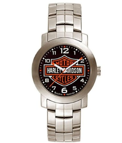 Harley Davidson 76A019 Mens Black Dial Bracelet Watch