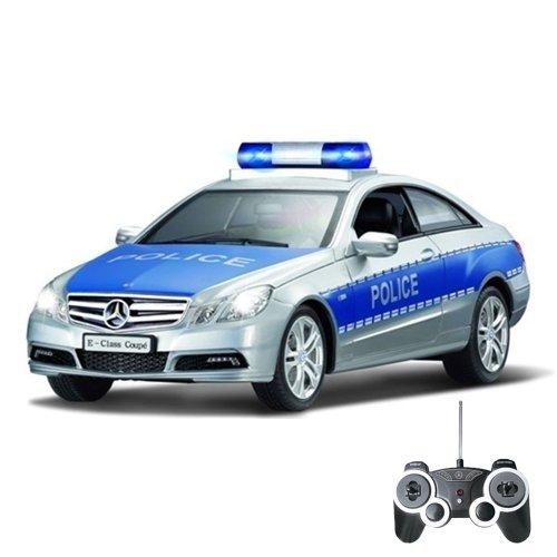 MERCEDES-BENZ-E350-COUPE-POLIZEIAUTO-original-RC-ferngesteuertes-Auto-Fahrzeug-Modell-TURBO-und-SOUND-116-Ready-to-Drive-Inkl-Fernsteuerung-Neu