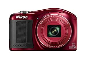 Nikon COOLPIX L620 18.1 MP CMOS Digital Camera with 14x Zoom Lens and Full 1080p HD Video (Red)
