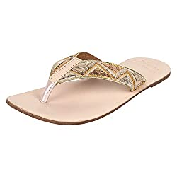 Rub & Style Hand Crafted Leather Womens Chic Slipper(S-F-NUG-50_6_BEIGE)
