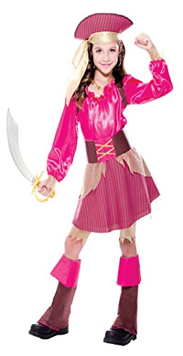 Girls Captain Cutie Pirate Kids Child Fancy Dress Party Halloween Costume