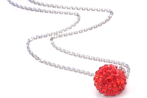 Authentic Rubyes Color Crystals , Includes Sterling Silver Chain 18 Inches Rolo. Now At Our Lowest Price Ever but Only for a Limited Time!