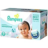 Pampers Swaddlers Sensitive Diapers Super Economy Pack, Size 3, 128 Count