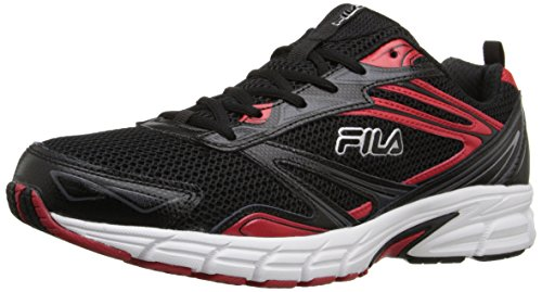 Fila Men's Royalty-M Running Shoe, Black/Fila Red/White, 10.5 M US