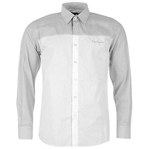 Pierre Cardin -  Camicia Casual  - con bottoni - Con bottoni  - Maniche lunghe  - Uomo Grau/Weiss C&S XX-Large