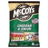 McCoys Cheddar & Onion Crisps 6 X 32G