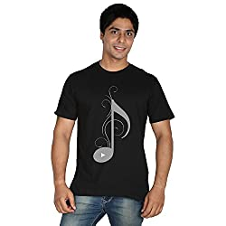 Trenster Decorated S Letter Men's Round Neck Printed T-Shirt