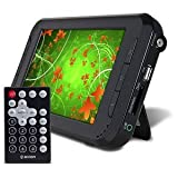 7' HMDX HMX-1701 Portable Handheld Widescreen LCD Digital TV - 16:9 ATSC Tuner w/SD-MS Card Slot, USB & Car Adapter
