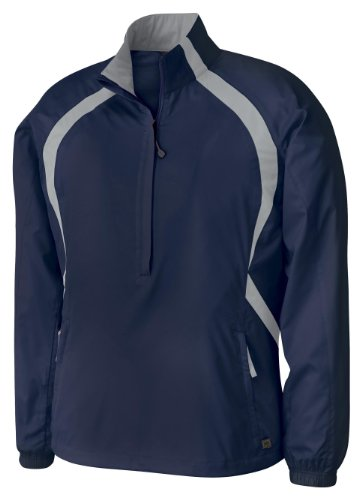Ladies' Recycled Polyester Dobby Lightweight Windshirt, Color: Night w/Grey Luster, Size: X-Large