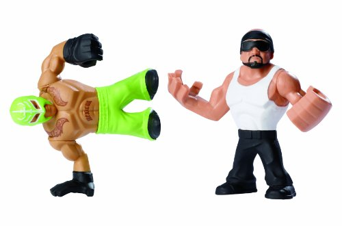 WWE Rumblers Hunico and Rey Mysterio Figure, 2-Pack