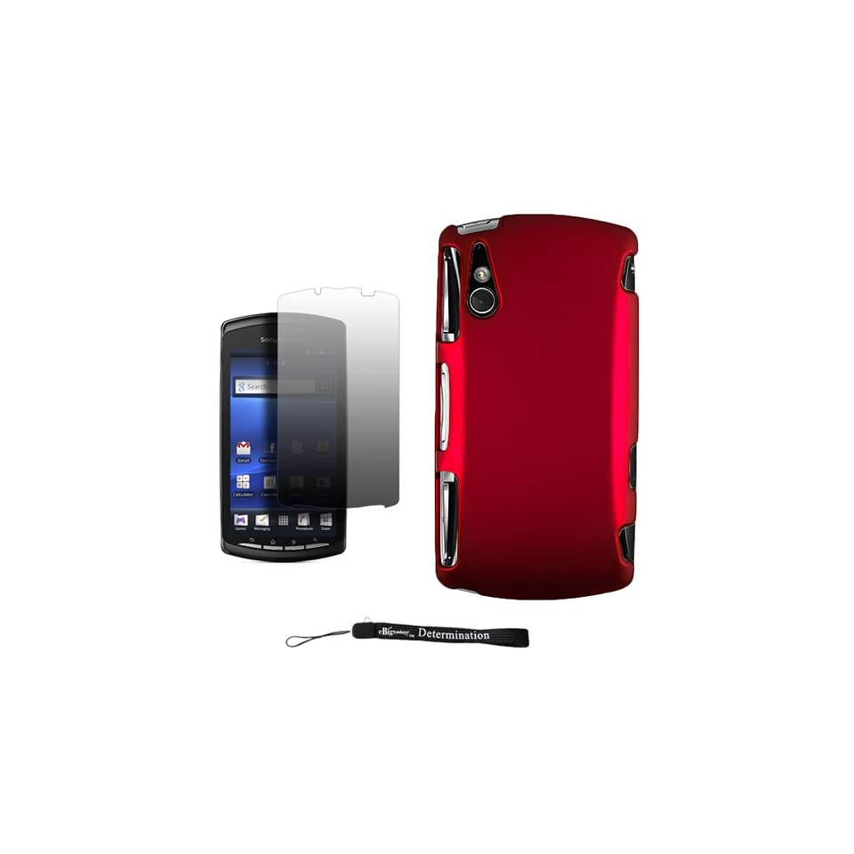 Smooth Design Cover / 2 Piece Snap On Crystal Protective Hard Case for Sony Ericsson Xperia PLAY ( PlayStation Android Phone ) * Includes Anti Glare Screen Protector Guard.
