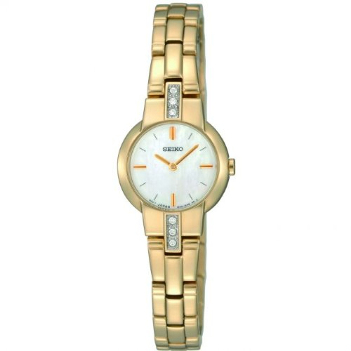 SEIKO LADIES GOLD PLATED WATCH WITH STONES